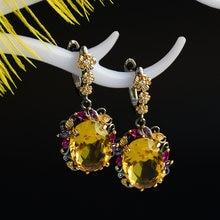 Роскошные женские Овальные Ювелирные изделия из циркония с кристаллами