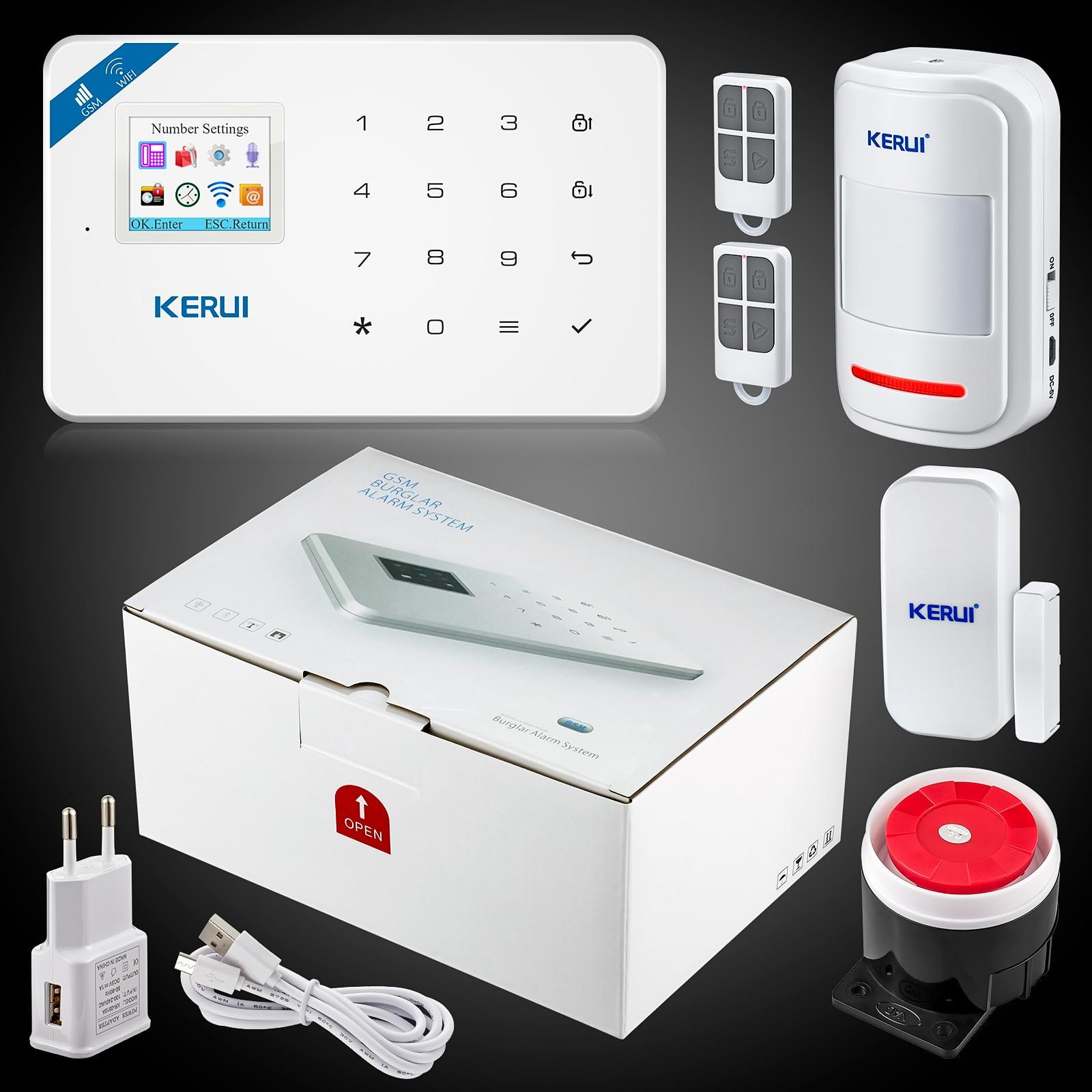 Kerui W18 Wireless Wifi GSM IOS Android APP Control LCD GSM SMS Burglar Alarm System For