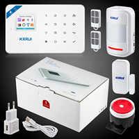 Kerui W18 sans fil Wifi alarme maison GSM IOS Android APP contrôle LCD GSM SMS système d'alarme antivol pour alarme de sécurité à domicile