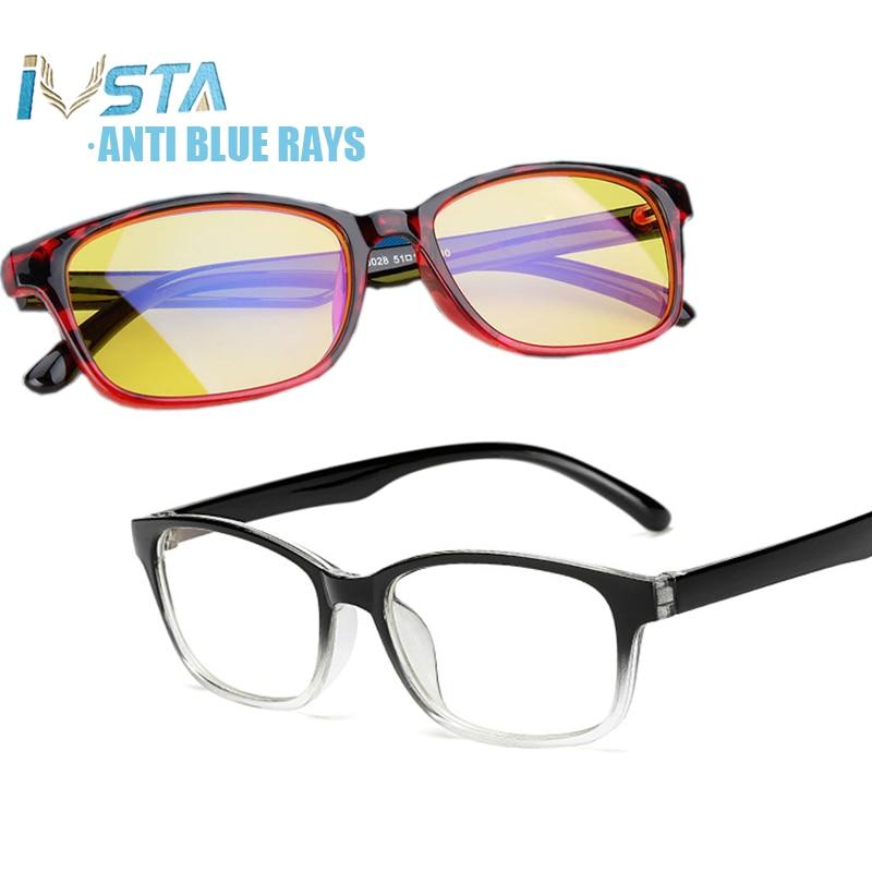 IVSTA Computer Glasses Men Blue Light Blocking Anti Blue Rays Gaming For Gamer Prescription Optical Night Vision Yellow Women