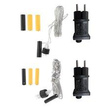 Eliminator baterii AA AAA wymień 2x 3 krotny przewód akumulatora AA AAA na Radio LED