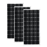 3 PCs 100W Solar Panels 300w 18V Glass Temper Monocrystalline Solar cell for 12V solar battery charger RV Home Boat
