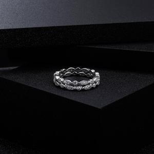 Image 4 - Pulseira de casamento de prata esterlina 925 para mulheres jóias finas anel de balé 0.008ct moissanite ef color eternity band