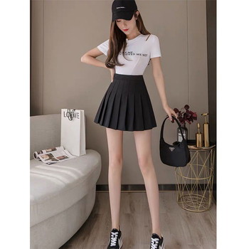 2020 new Korean version of the plaid college style pleated skirt small fresh pettiskirt A-line skirt student skirt half-length s girls pleated skirt 2018 new autumn and winter new children s big children s pleated half length skirt