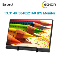 Eyoyo 13.3 TYPE C USB C HDMI Portable Gaming Monitor 1080P 4K Ultrathin Touch LCD Screen for Switch PS4 XBOX Laptop PC Phone