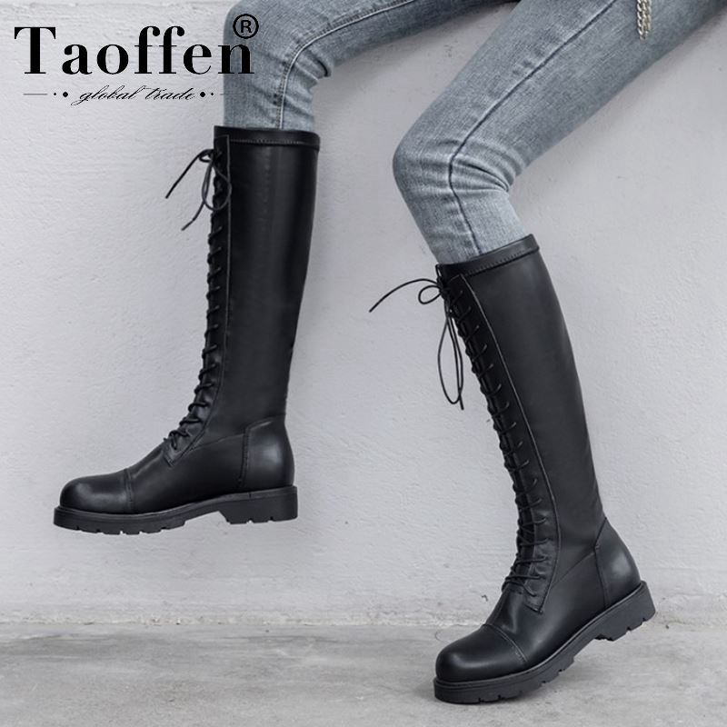 Women Genuine Leather Knee High Boots