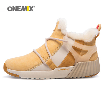 ONEMIX Men's Winter Snow Boots Keep Warm Women's Sneakers Shoes Comfortable hiking shoes Outdoor Sneakers Coach Sales