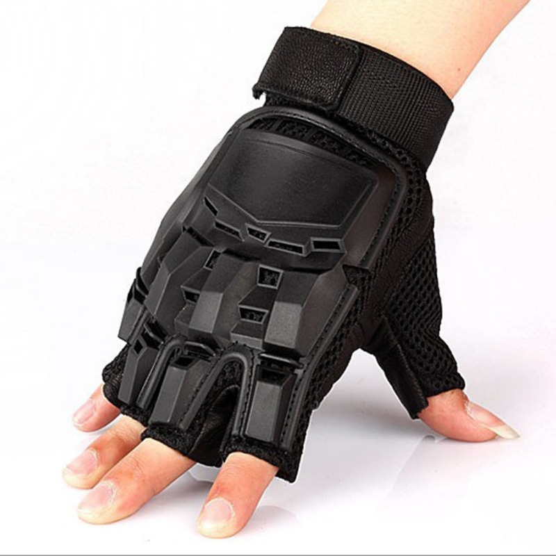 Tactical Gloves Men Military Army Combat Hard Knuckle Fingerless Gloves Climbing Half Finger Training Gloves|Hunting Gloves| |  - title=