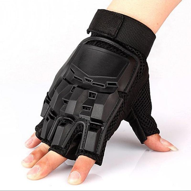 Tactical Gloves Men Military Army Combat Hard Knuckle Fingerless Gloves Climbing Half Finger Training Gloves