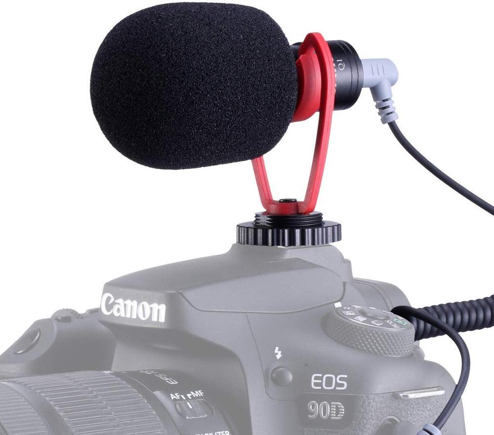 Mic para Smartphone Sairen Mini Shotgun Vídeo Microfone Gravação Entrevista Vlog Dslr Câmera Osmo Bolso Móvel 3 Cardan 3.5mm