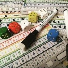 Mais novo jogo de cartas jogo de tabuleiro qwixx jogos de festa engraçado jogo de festa