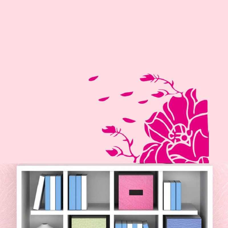 Porta del frigorifero Copertura Magnolia Adesivo Da Parete autoadesivo del fiore Autoadesivi del Frigorifero di Carta Da Parati della decorazione della casa adesivos de paredes