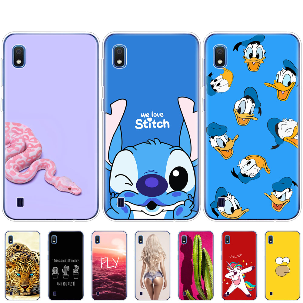 For Samsung A10 Case Bumper Soft Silicone Phone Cover On For Samsung Galaxy A10 GalaxyA10 A 10 SM-A105F A105 A105F Coque Cartoon