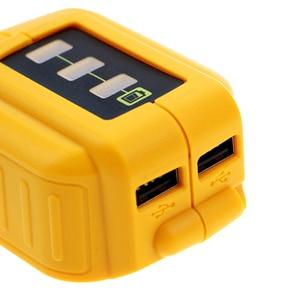 Image 3 - USB Chuyển Đổi Sạc Dành Cho 12V18V20V Pin Li Ion Bộ Chuyển Đổi Thay Thế DCB090 DCB091 Bộ Adapter Sạc USB Cung Cấp Điện