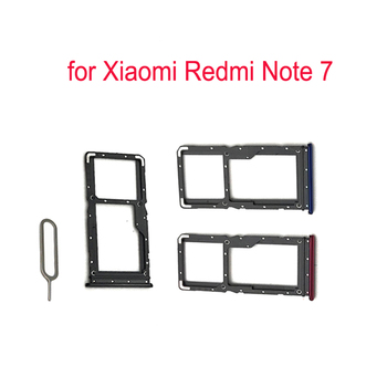 (5piece)For XIAOMI Redmi Note 7 Phone SIM Card Tray Adapter For Xiaomi Note 7 Original Housing New Micro SD Card Tray Holder