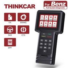 Thinkcar Thinkscan S01 OBD2 Volledige System Code Reader Scanner Olie/Rem/Sas/Ets/Dpf Reset Diagnostic tool Voor Benz
