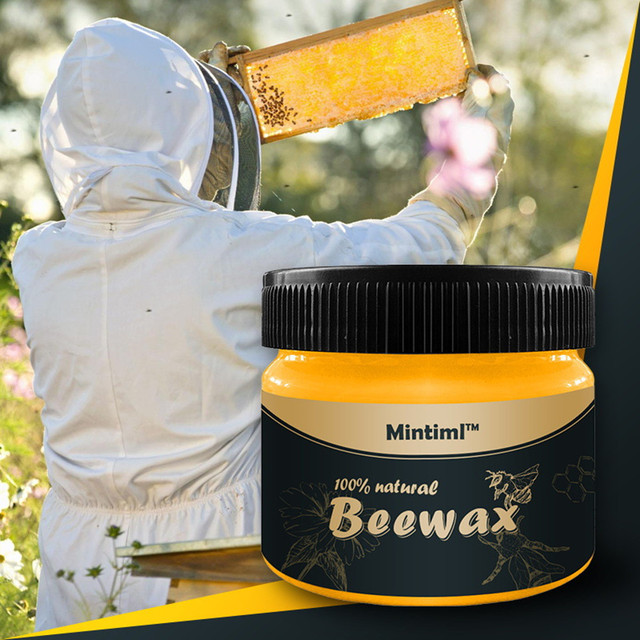 New Wax Wood Seasoning Beewax Organic Natural Pure Complete Solution Furniture Care Beeswax Home Cleaning Polishing  Wood Care