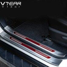 Vtear Protector interior de acero inoxidable para Toyota RAV4 RAV 4, Protector de placa de desgaste de Pedal de alféizar de puerta, accesorios