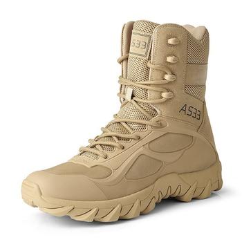 Los hombres botas del ej rcito de 39 46 deporte de senderismo zapatos de tobillo