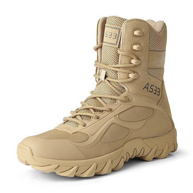 Los hombres botas del ej rcito de 39 46 deporte de senderismo zapatos de tobillo de