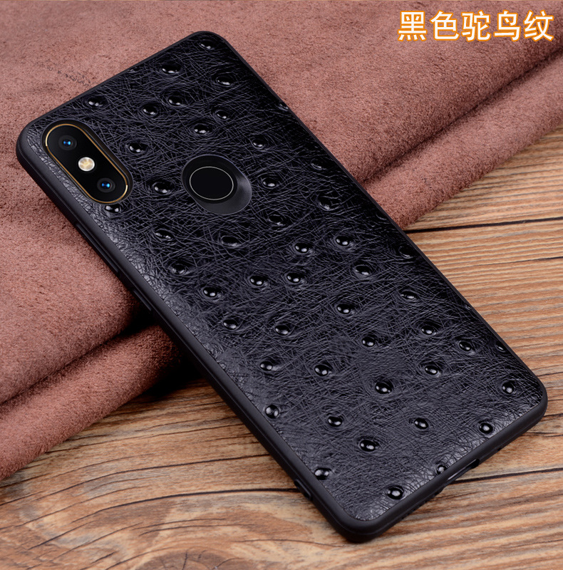Luxury Genuine Leather Phone Case for Xiaomi MIX 3 2s Case Tempered Protector for Xiaomi MIX3 Slim Back Skin Cover Bag in Half wrapped Cases from Cellphones Telecommunications