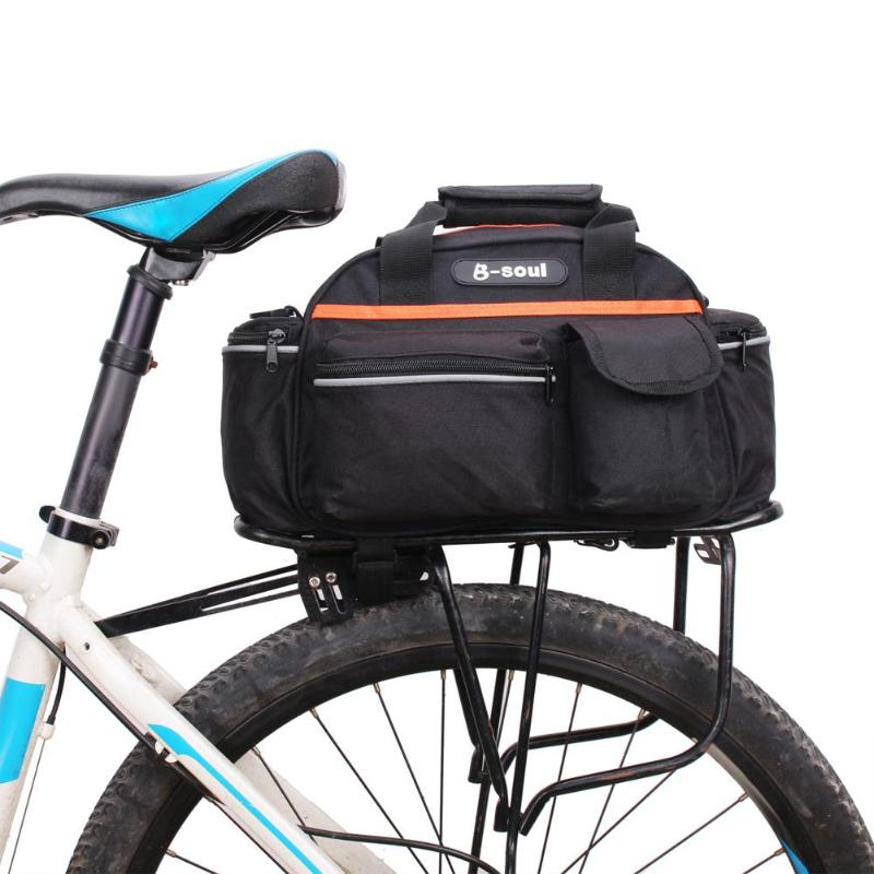 15L Bicycle <font><b>Bike</b></font> <font><b>Bag</b></font> Rear Seat Rack Trunk <font><b>Bag</b></font> For MTB <font><b>Bike</b></font> Saddle <font><b>Bags</b></font> Storage Case Pouch for Luggage <font><b>Carrier</b></font> bisiklet aksesuar image