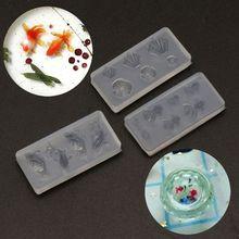 Jewelry-Mold-Kit Goldfish Necklaces Earrrings Diy Resin Water-Dag Size 3pcs Lotus-Leaf