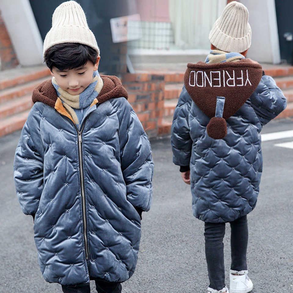 Пальто для мальчиков; коллекция 2019 года; зимняя куртка; одежда высокого качества; пальто для маленьких мальчиков и девочек; теплые куртки с капюшоном для детей; верхняя одежда