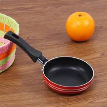 1pc mini ovos fritos frigideira casa frigideira antiaderente ovo liso panqueca omelete bife pan assadeiras (cor aleatória)