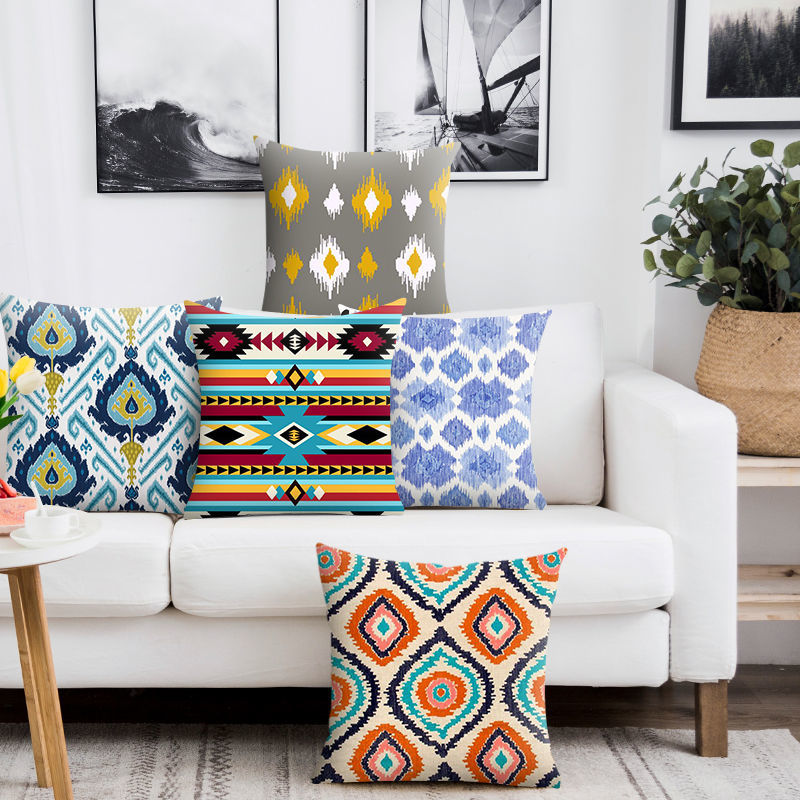 Nordic Ins Homestay Moroccan Bohemian Pillow India Light Luxury Living Room Bedroom Cushion Cover Waist Pillow Case