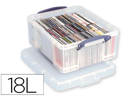 ORGANIZER ARCHIVE 2000 PLASTIC TRANSPARENT WITH TAPA18 LITER 200X390X480 MM