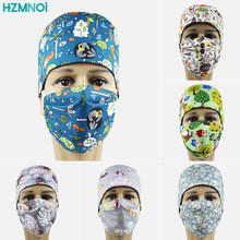Printed cotton scrub cap hospital medical cap mask bandage surgical cap beauty hospital dentistry work cap(China)