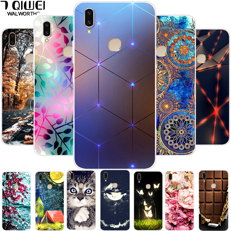 Cases For Vivo V9 Case 6.3'' Silicone Soft Phone Case For Vivo V9 Youth Case V 9 V9Youth Cover TPU For Funda Vivo Y85 Clear