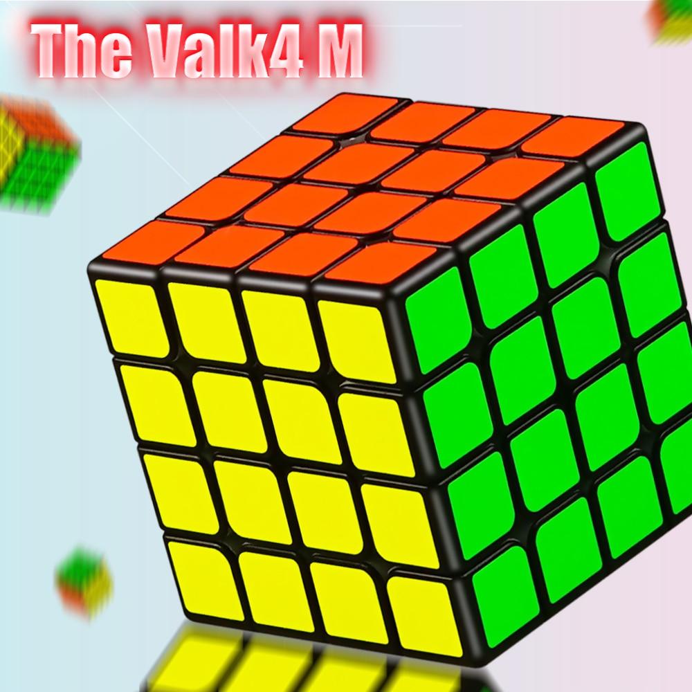 Nova QiYi valk 4 M 4x4x4 Magnética Valk 4 M Ímãs Enigma Velocidade Cubo Mágico Profissional cubos Valk4 M 4x4 Stickerless Cubo Magico