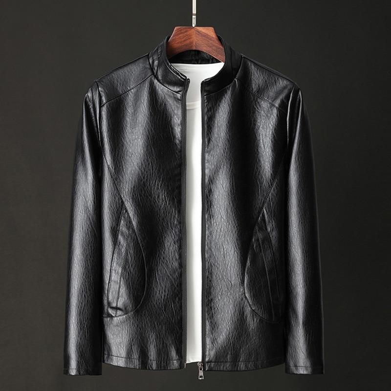Men Genuine Leather Jacket 2020 New Spring And Autumn Slim Zipper Male Split Leather Jacket Teenager Boy Black Brown P1902