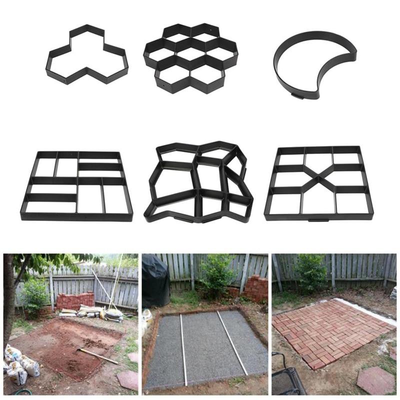 DIY Paving Mold Cement Brick Concrete Molds Manually Metal Path Maker Pavement Mold Stone Road Mould Scraper Garden Decoration