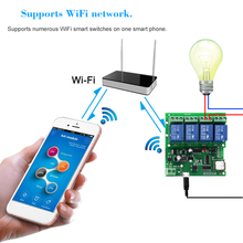 Smart Remote Control Module 4CH 10A Relays WIFI Wireless Swi