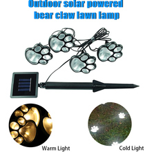 Solar Garden Lamp Light Paw Shape Lawn Decoration Holiday party Deorating Solar-Powered