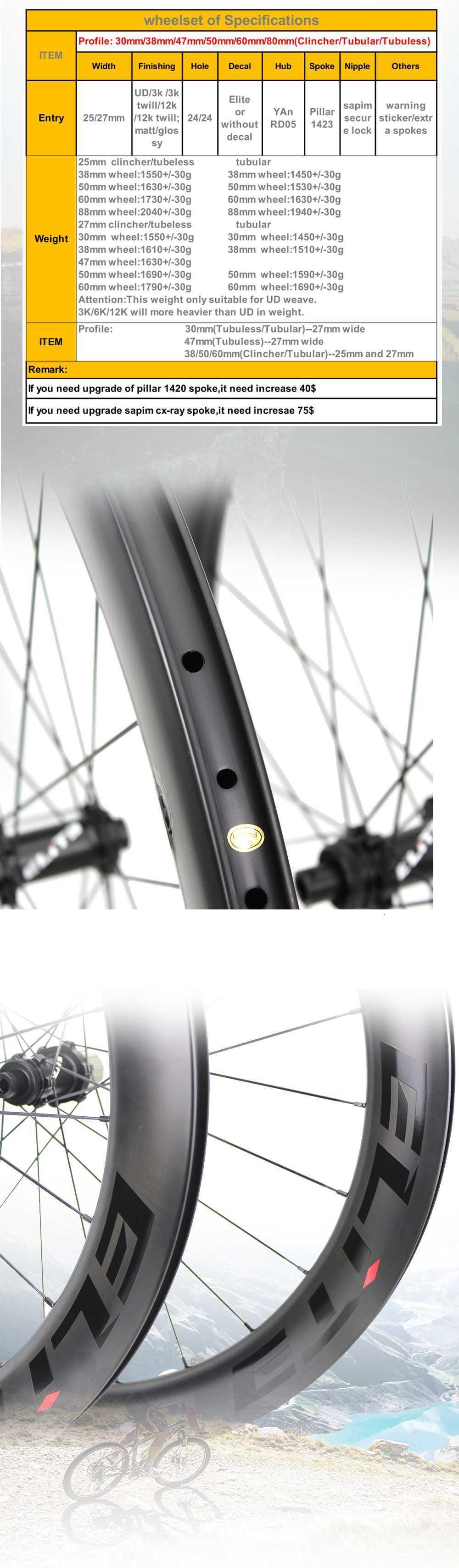 Elite pro disco 700c carbono rodas de