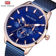 MINI FOCUS Wrist Watch Men Top Brand Luxury Famous Male Clock Mens Watches Quartz Calendar Stainless Steel Mesh Strap Relogio все цены