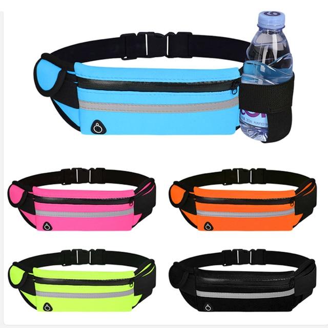 幽ウエストバッグを実行しているウエストバッグスポーツポータブルジムホールド水サイクリング電話バッグ防水女性ベルト