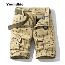 2021 novo verão carga shorts homens camuflagem algodão caqui jogger solto carga shorts homens casuais outwear macacão shorts