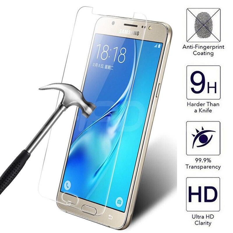 Protector de vidrio templado 9H para pantalla de móvil, película de seguridad para Samsung Galaxy J3 J5 J7 2017 2018 J2 J4 J7 Core J5 Prime S7