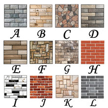 3D Wallpaper Wall Sticker Wall Decor Embossed Brick Simulation Tile Wall Sticker(China)