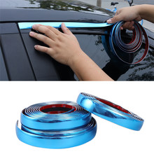 Universal Body Molding Car Molding Chrome Molding Trim Strip Tape Door Edge Moulding Panel Trim Bumper Protector
