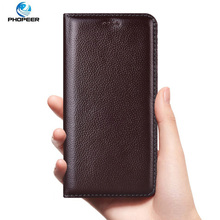 Litchi Genuine Leather Case For Sony Xperia X XA XA1 XA2 XA3 Plus Ultra luxury Flip Cover Mobile Phone Cases