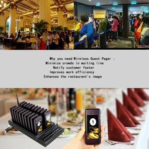 Image 5 - レストランページャ無線呼出元システム 20 コールボタンウェイターレストランキュー機器カフェ restaurante キューイング