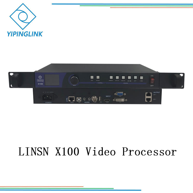 LINSN X100 Full Color All In One Video Processor Scaler With USB Play And Integrated Sending Card