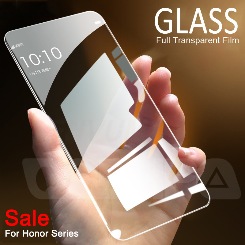 9H Protective Glass For Huawei Honor 9X 8X 8A 8C Tempered Screen Protector Glass On The Honor 20 9i 10i 20i V20 V10 V9 Play Film