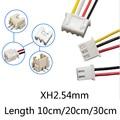 Коннектор JST XH 2,54 с 2/3/4/5/6 контактами, 2,54 мм, 10 см/20 см/30 см, штепсельная вилка, кабель 26AWG без клеммы, 10 шт.